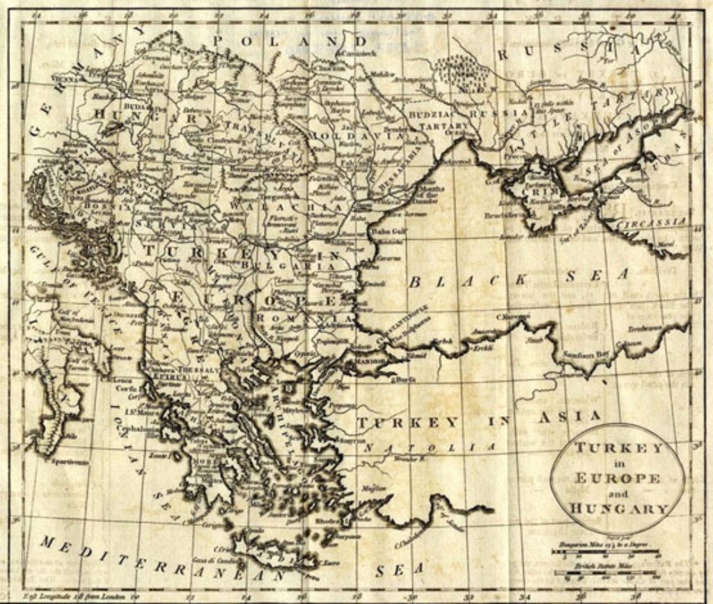 Τα ευρωπαϊκά εδάφη της Οθωμανικής Αυτοκρατορίας πριν το 1821