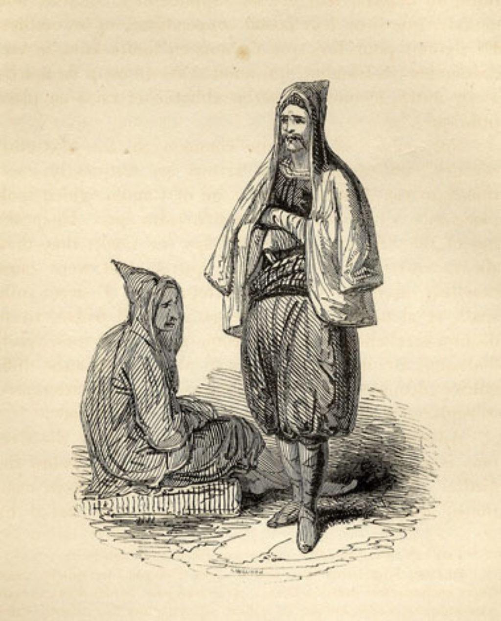Κάτοικοι της κρητικής υπαίθρου μετά την Επανάσταση ( R. Pashley, 1834 )