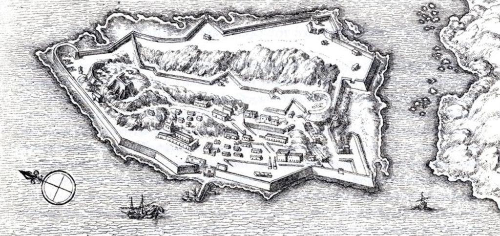 Το φρούριο της Σπιναλόγκας (O. Dapper, 1688)