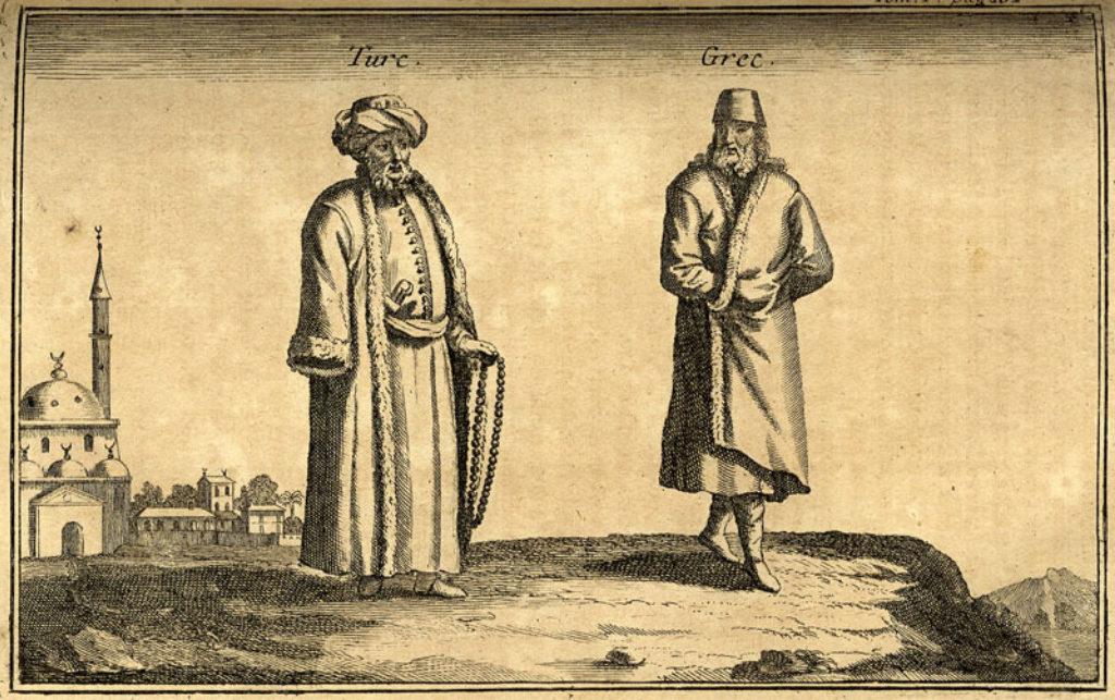 Μουσουλμάνος και χριστιανός της Κρήτης (J. P. Tournefort, 1700)